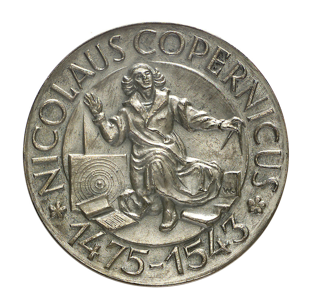 Detail of Medal commemorating the quartercentenary of the death of Nicholas Copernicus, 1943; obverse by Wojciech Jastrzebowski