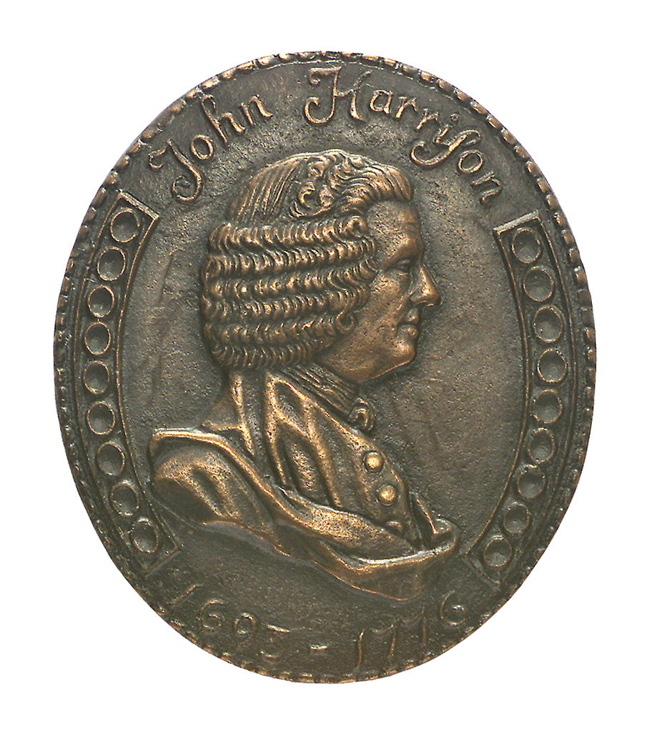 Detail of Medal commemorating the bicentenary of John Harrison's death, 1976; obverse by William Andrews