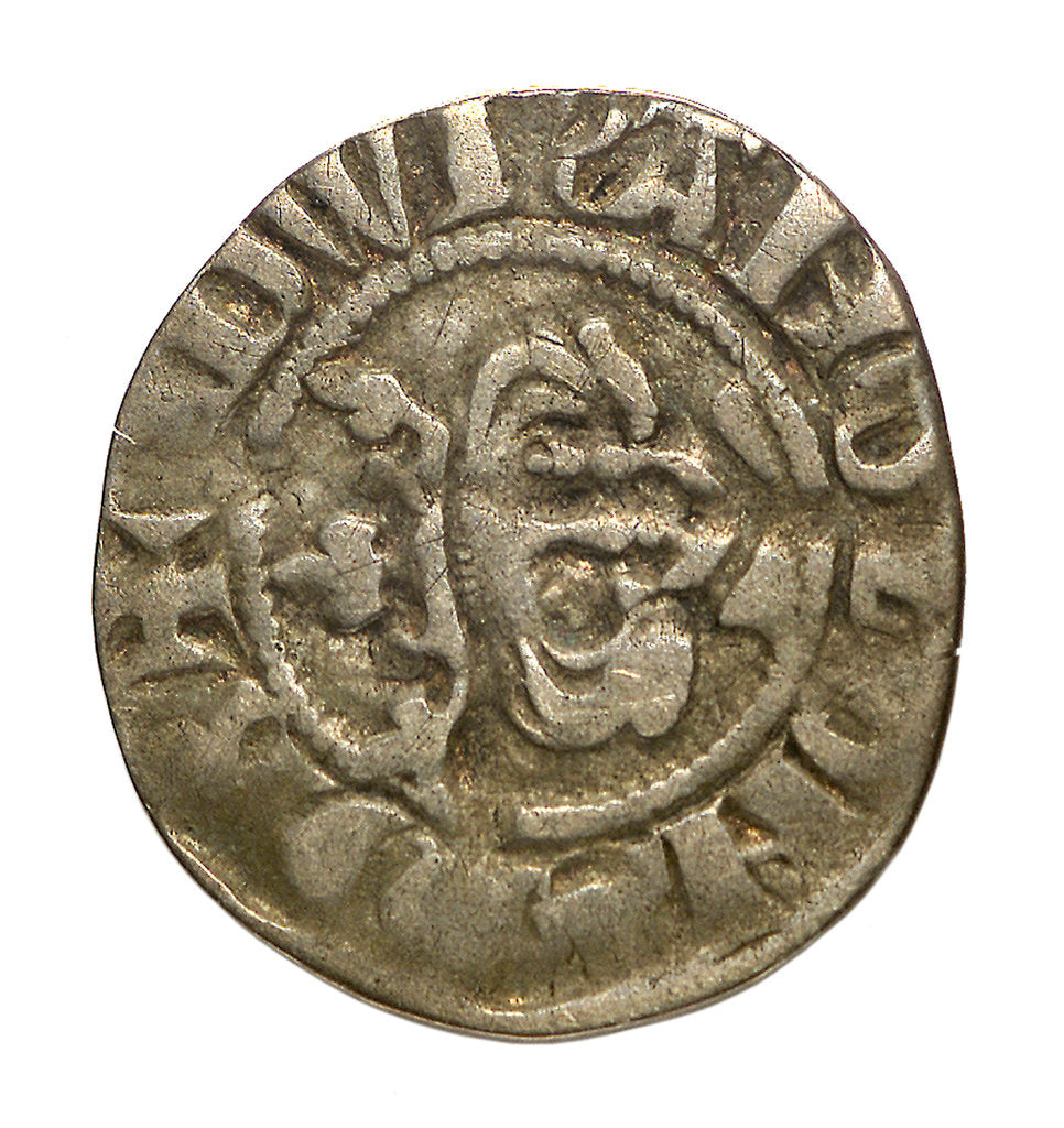 Detail of Coin - halfpenny; reverse by unknown