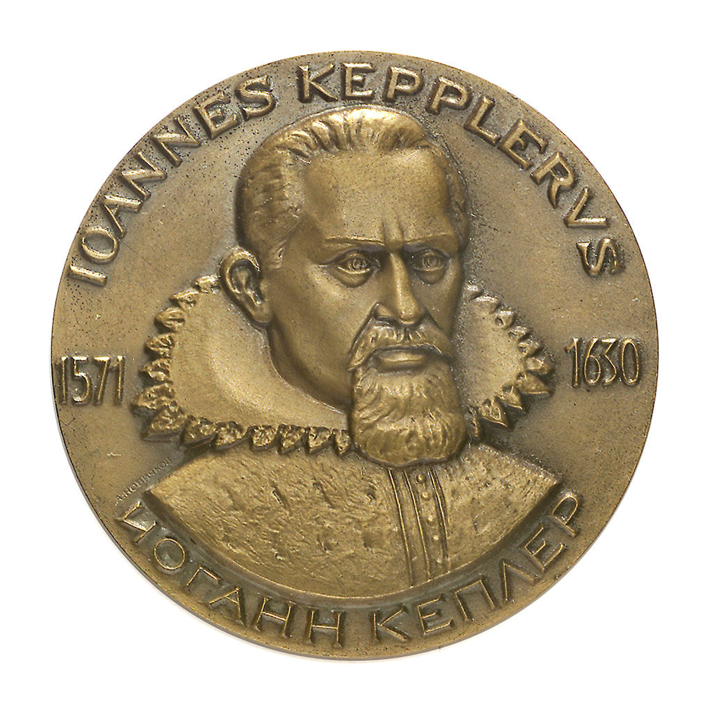 Detail of Medal commemorating Keppler symposium, 1971; obverse by unknown