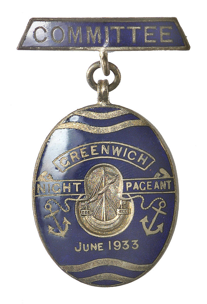 Detail of Badge of the Greenwich Pageant, 1933; obverse by Fattorini & Son Ltd.