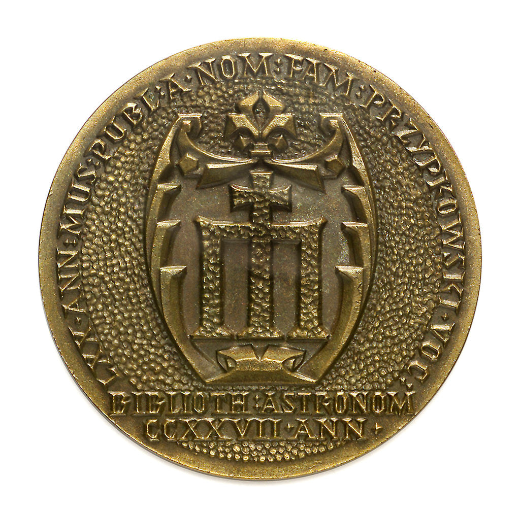 Detail of Medal commemorating the 11th International Congress of the History of Science, 1965; obverse by unknown