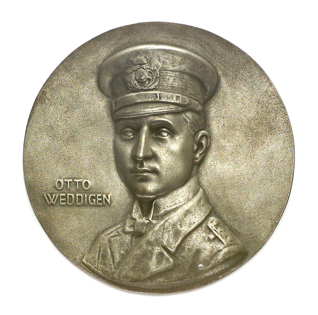 Detail of Medal commemorating Captain-Lieutenant Otto von Weddigen (1882-1915); obverse by H. Bendorff