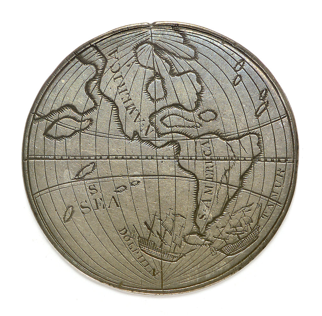 Detail of Byron's voyage around Cape Horn 1764-1766; reverse by unknown
