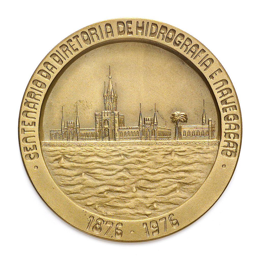 Detail of Medal commemorating the centenary of the Brazilian Hydrographic Office, 1976; reverse by unknown