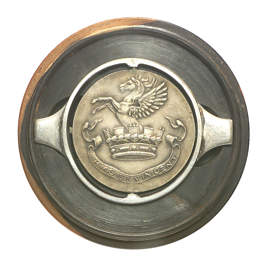 Detail of Medal commemorating HMS 'St Vincent'; obverse by Welham Manufacturing Company