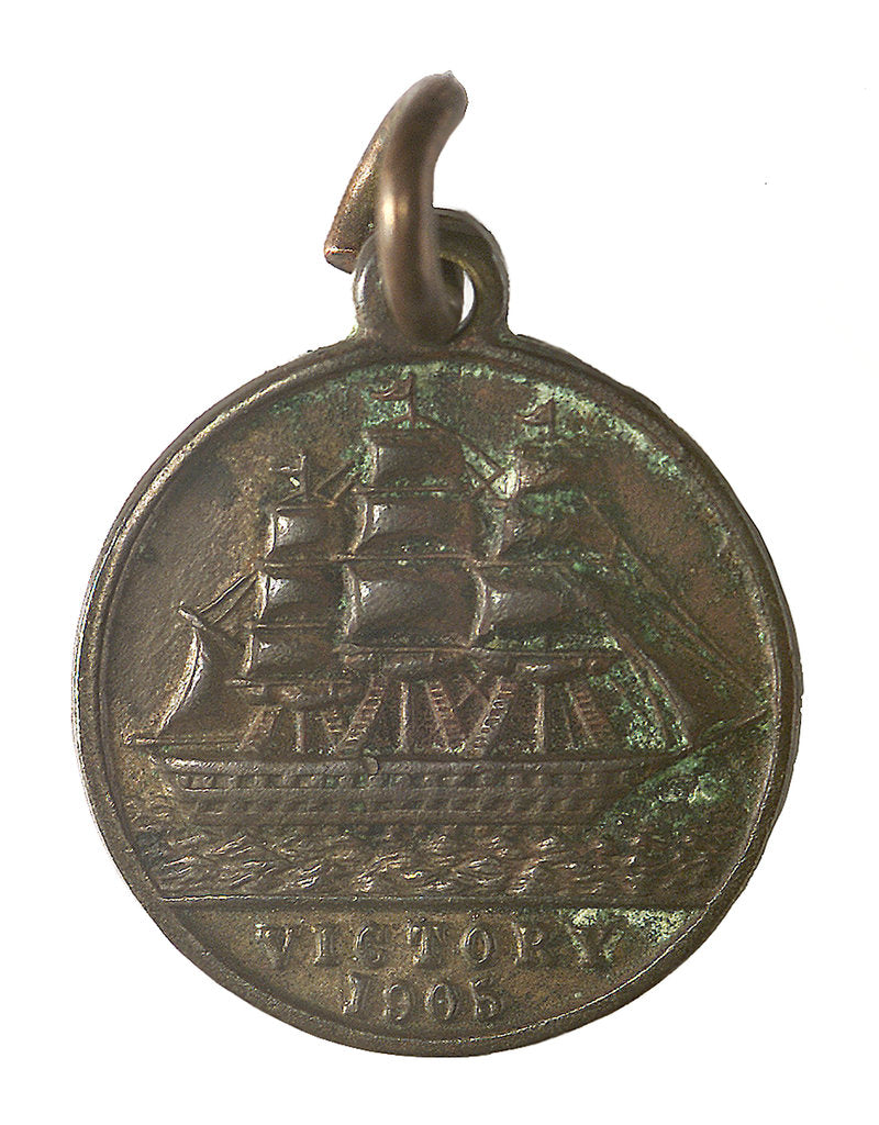 Detail of Medal commemorating the Trafalgar centenary, 1905; obverse by unknown