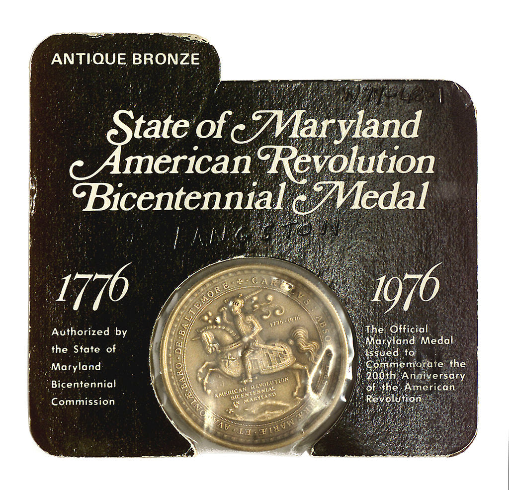 Detail of Medal commemorating the bicentenary of the American Revolution, 1976; obverse by unknown