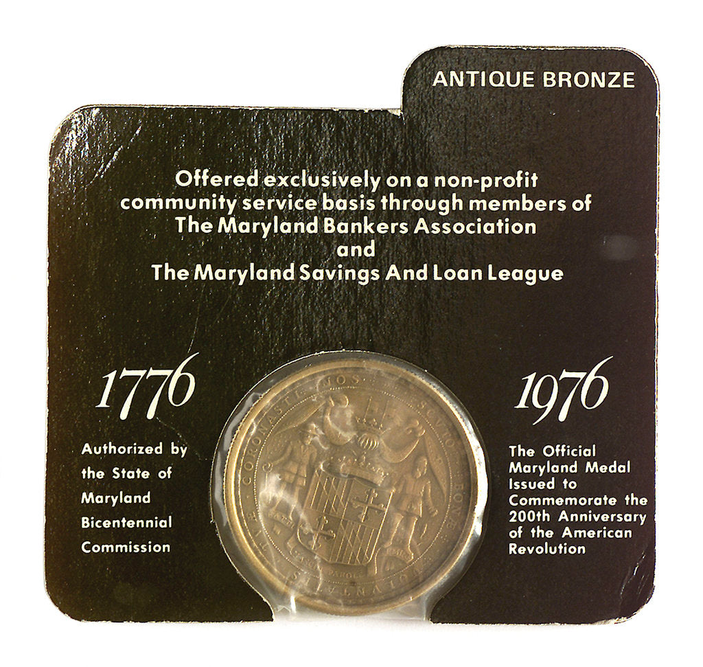 Detail of Medal commemorating the bicentenary of the American Revolution, 1976; reverse by unknown