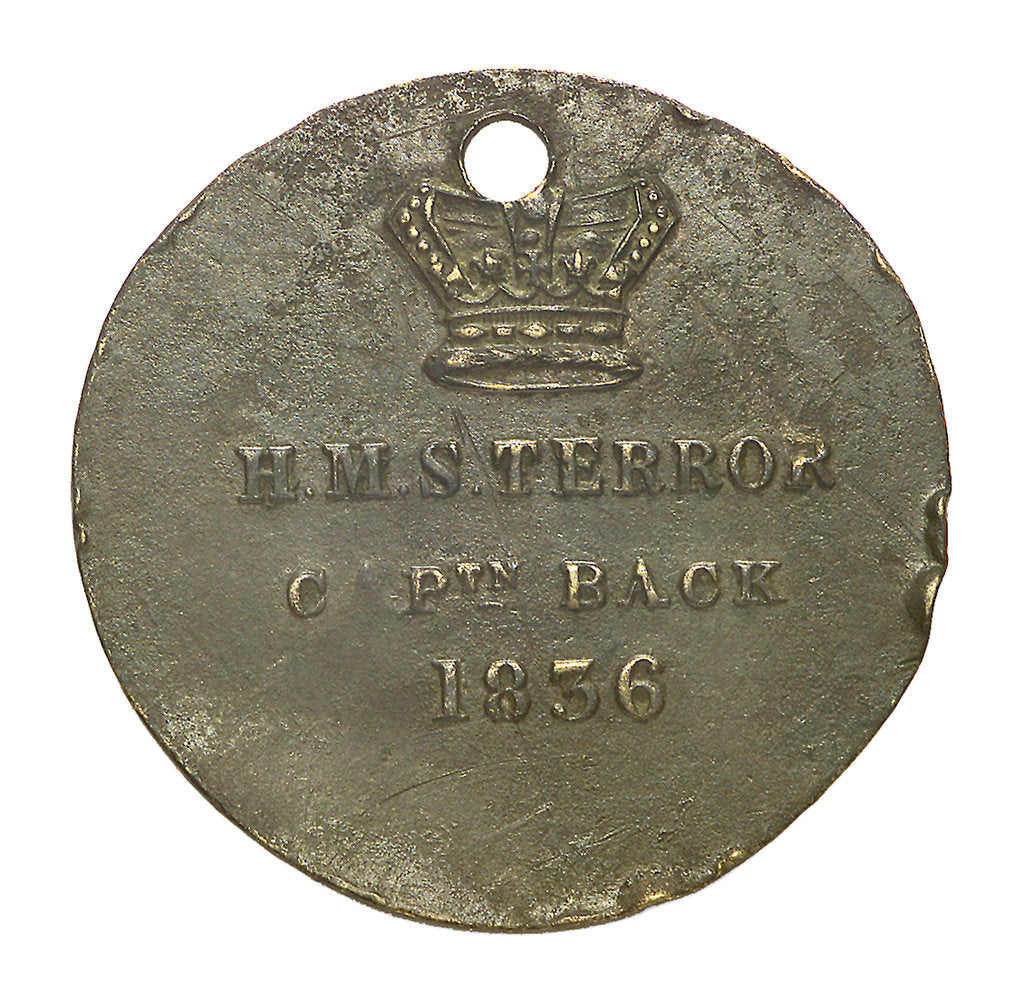 Detail of Medal commemorating the voyage of HMS 'Terror' 1836-7; obverse by unknown