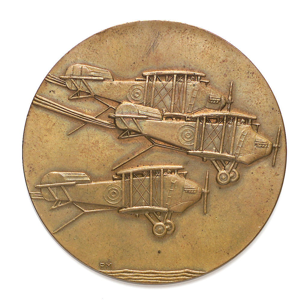 Detail of Medal commemorating the death of Lieutenant Henry Leigh Carslake, 1926; obverse by P. Metcalfe