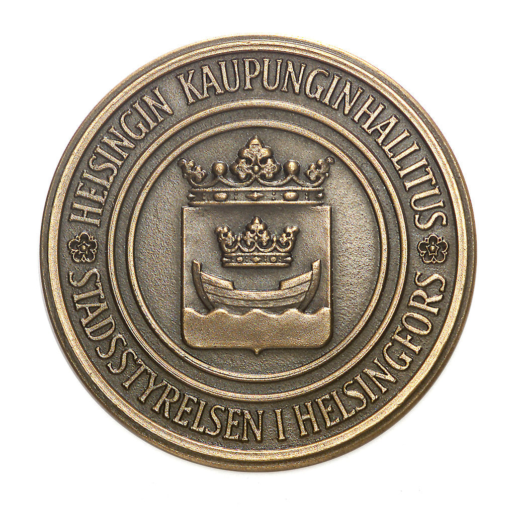 Detail of Medal commemorating Helsinki; obverse by Tillander