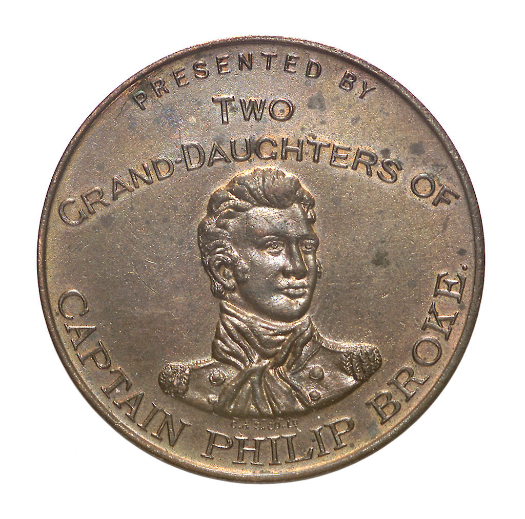 Medal commemorating the centenary of the Shannon and Chesapeake action, 1913; obverse by unknown