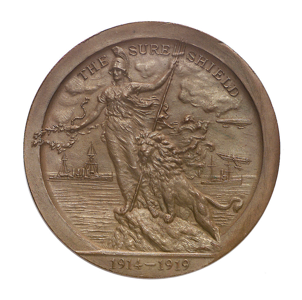 Detail of Medal of  the Sea Services Commemoration, 1919; obverse by Heming & Co.