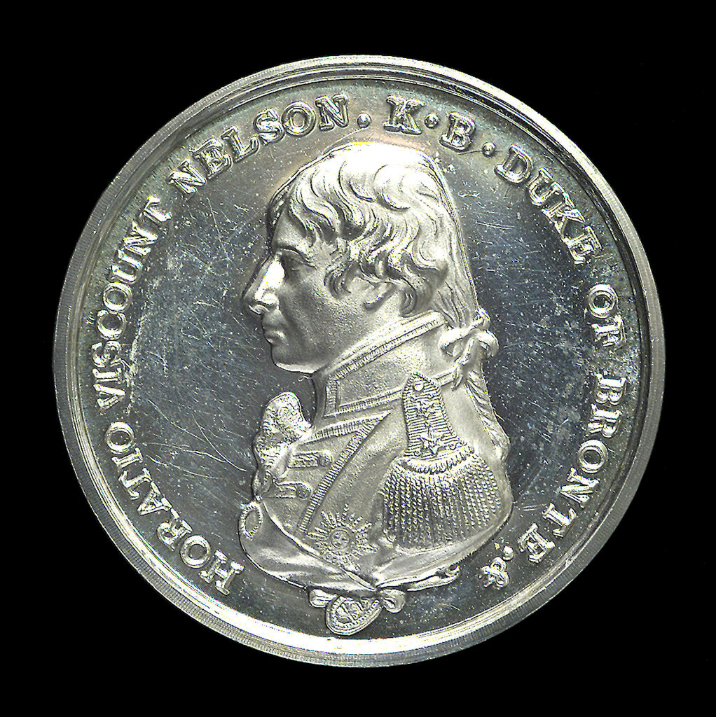 Detail of Medal commemorating the centenary of the Battle of Trafalgar 1905; obverse by Spink & Son Ltd.