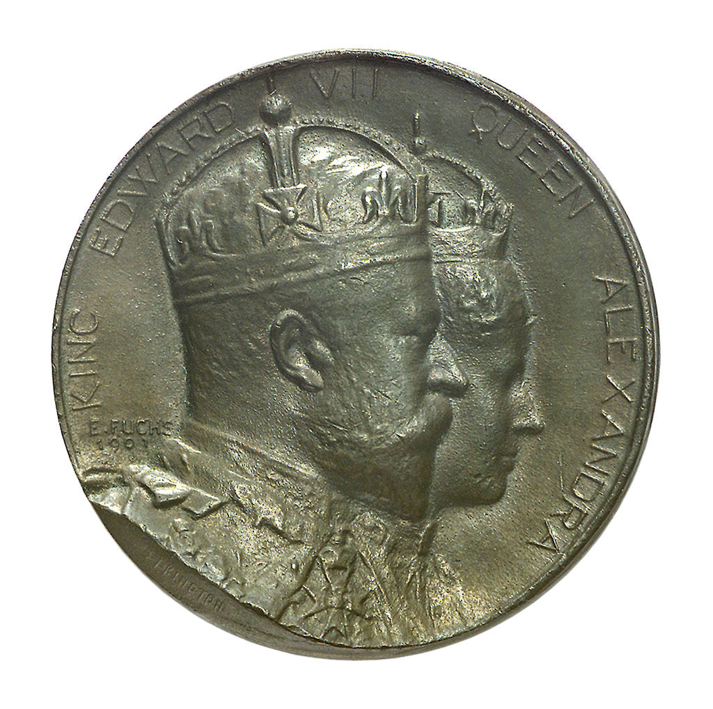 Detail of Medal commemorating the Coronation of Edward VII, 1902; obverse by Emil Fuchs