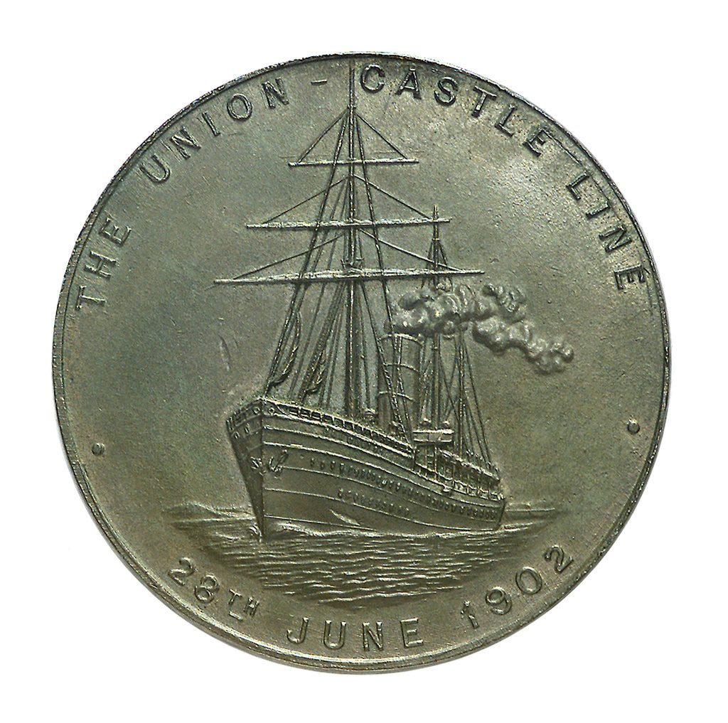 Detail of Medal commemorating the Coronation of Edward VII, 1902; reverse by Emil Fuchs