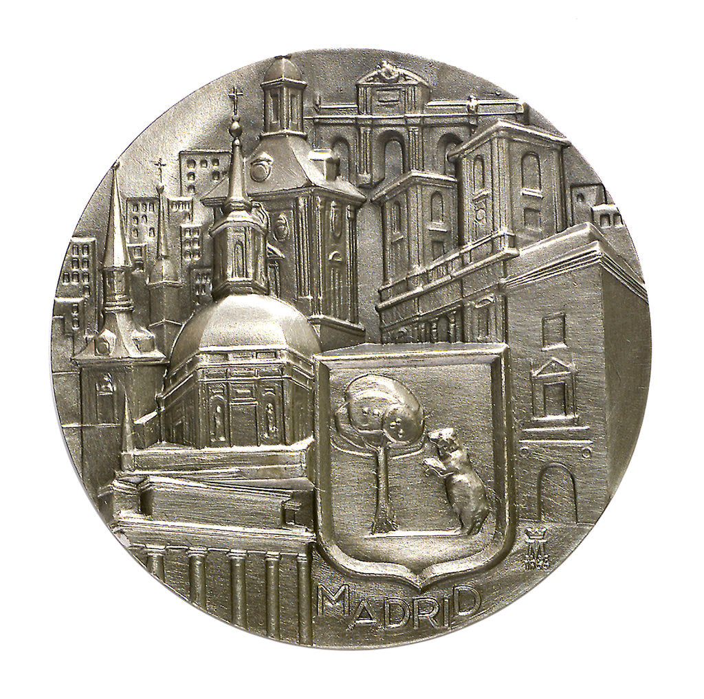 Detail of Medal commemorating the city of Madrid; obverse by unknown