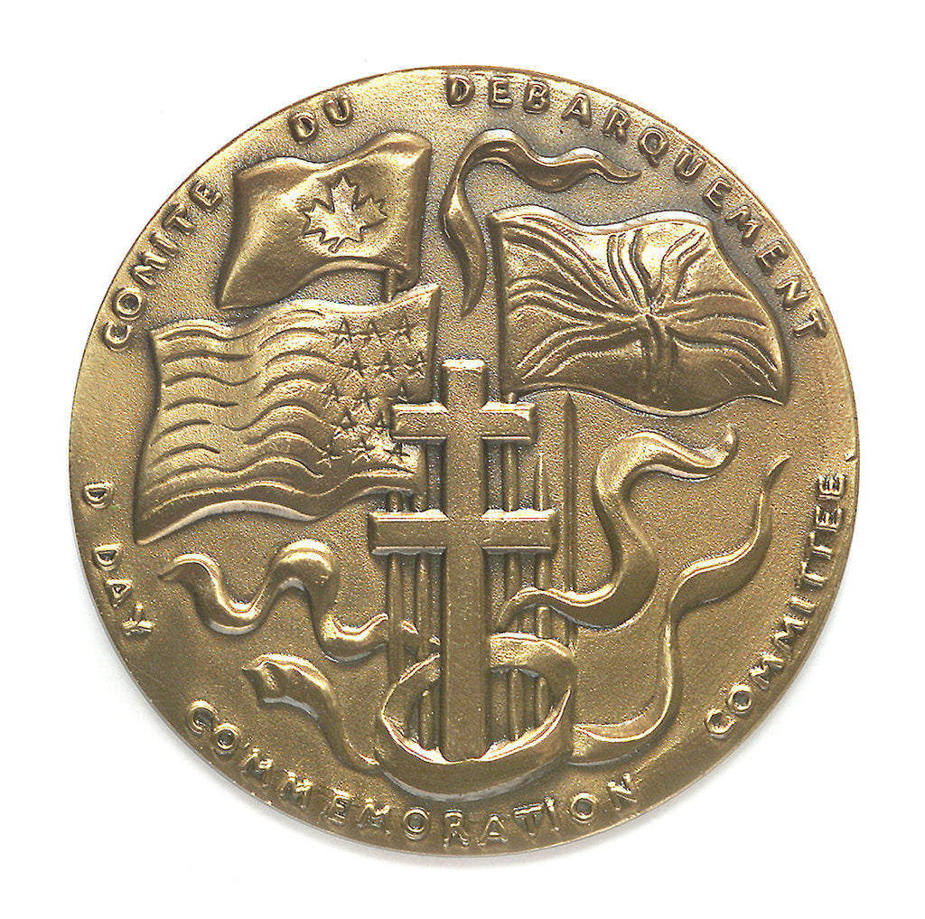 Detail of Medal commemorating the 40th anniversary of the Normandy Landings, 1984; obverse by Louis Leygue