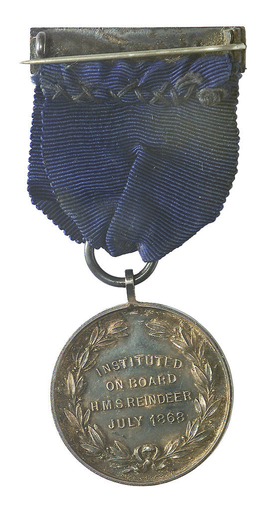Detail of Royal Naval Temperance Society medal; reverse by unknown