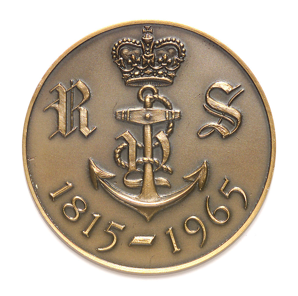 Detail of Medal commemorating the Royal Yacht Squadron 150th anniversary, 1965; obverse by unknown
