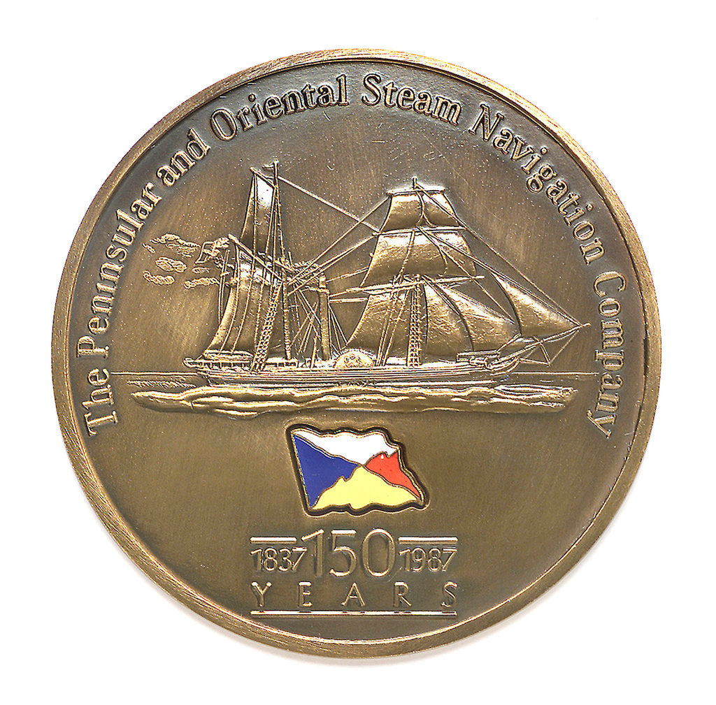 Detail of Medal commemorating the P&O Steam Navigation Company - 150th anniversary, 1987; obverse by unknown