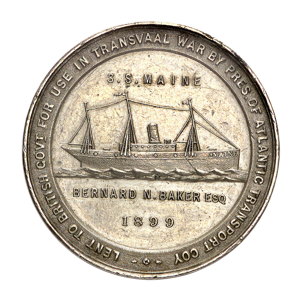 Detail of Medal commemorating the hospital ship, SS 'Maine'; obverse by unknown