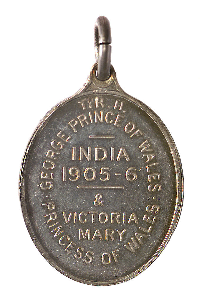 Detail of Medal commemorating the visit of the Prince and Princess of Wales to India, 1905-1906; reverse by Elkington & Co. Ltd.