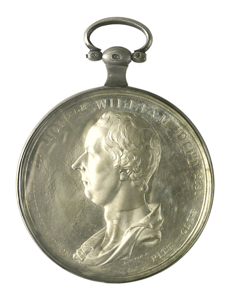 Detail of Medal of the Wolverhampton Pitt Club; obverse by E. Bird