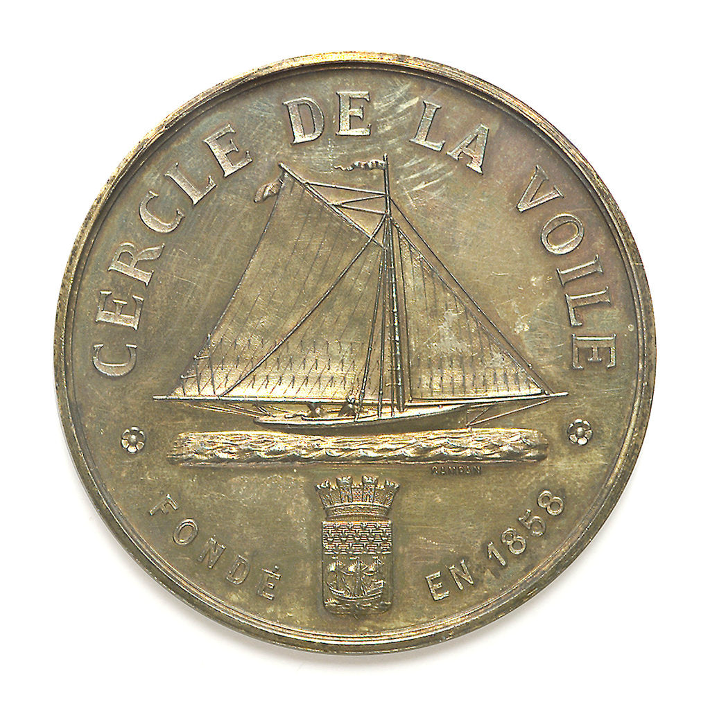Medal of the Cercle de la Voile; reverse by Campan
