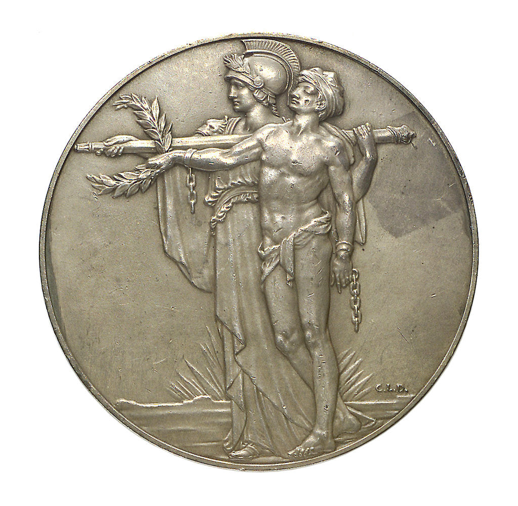 Detail of Medal commemorating the unveiling of the Cenotaph, Whitehall; reverse by C.L. Doman