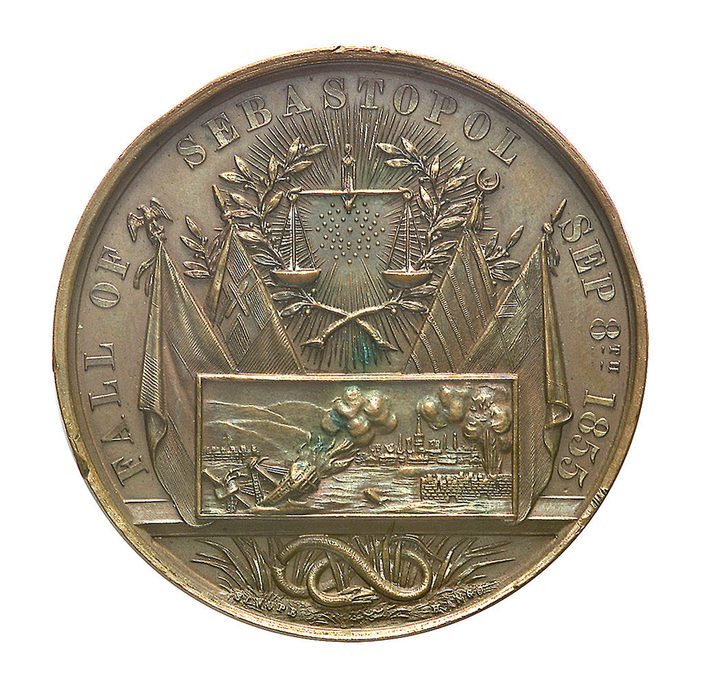 Detail of Medal commemorating the fall of Sebastopol, 1855; obverse by unknown