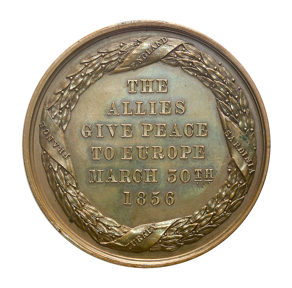 Detail of Medal commemorating the fall of Sebastopol, 1855; reverse by unknown