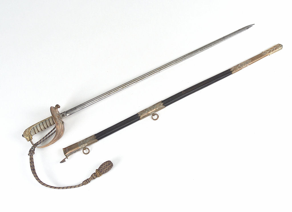 Detail of Solid half-basket hilted sword by unknown