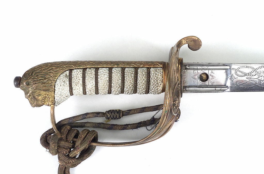 Solid half-basket hilted sword by Henry Wilkinson