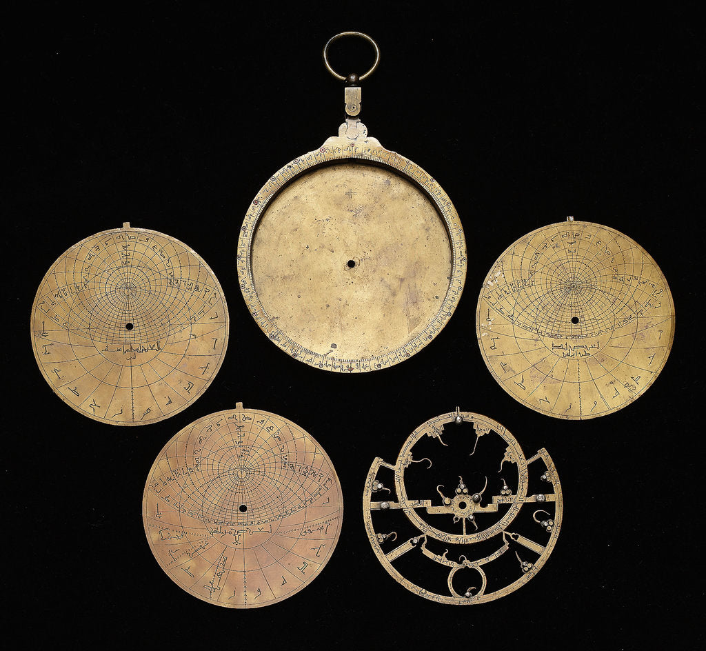 Detail of Astrolabe: dismounted obverse by unknown