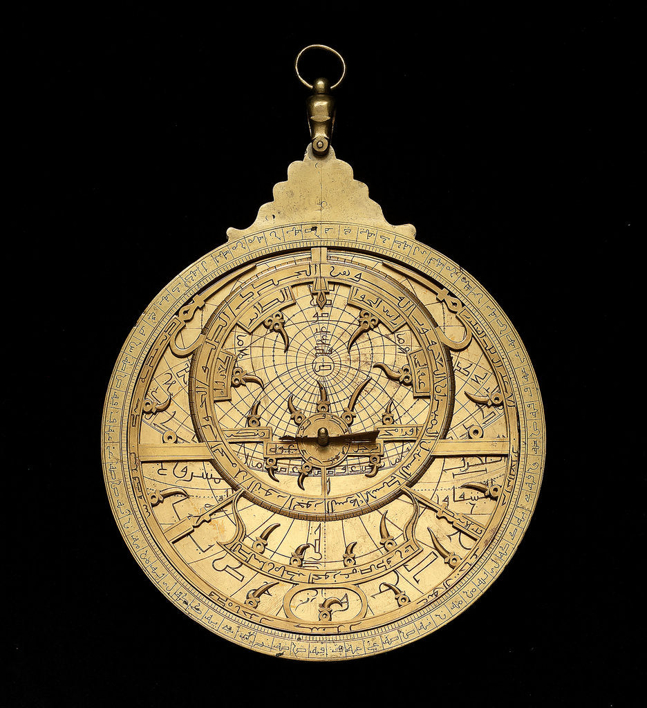 Detail of Astrolabe: dismounted obverse by Muhammad ibn Ahmad al-Battuti