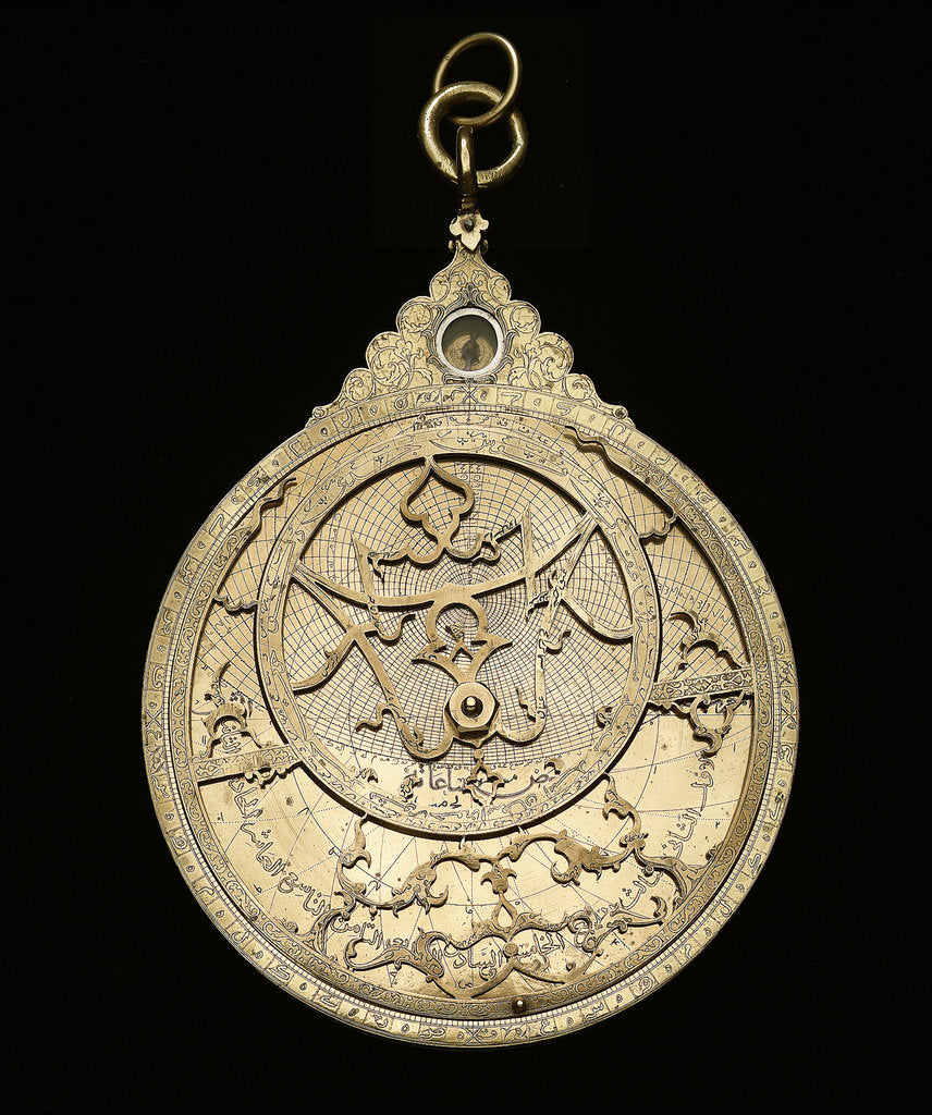 Detail of Astrolabe: mounted obverse by Muhammad Muqim al-Yazdi