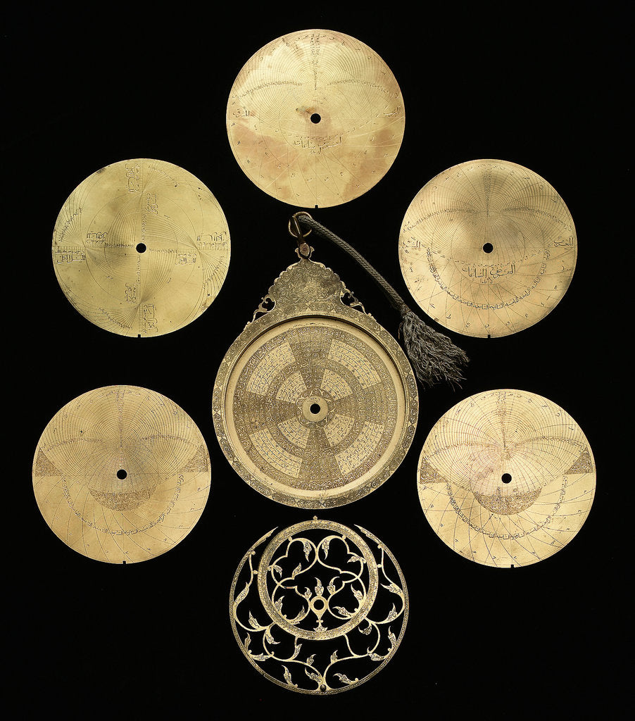 Detail of Astrolabe: dismounted obverse by Abd al-A'imma