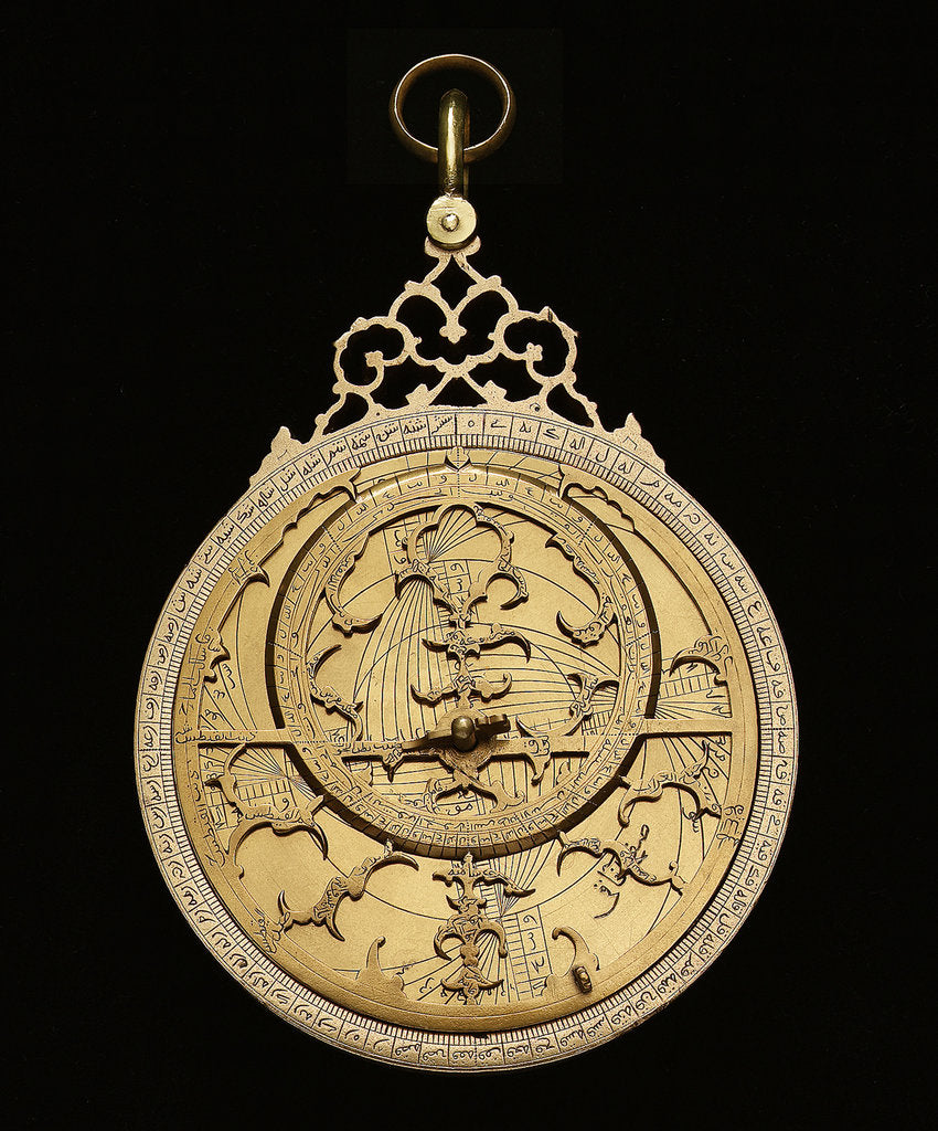 Detail of Astrolabe: mounted obverse by Muhammad Muqim ibn Mulla 'Isa