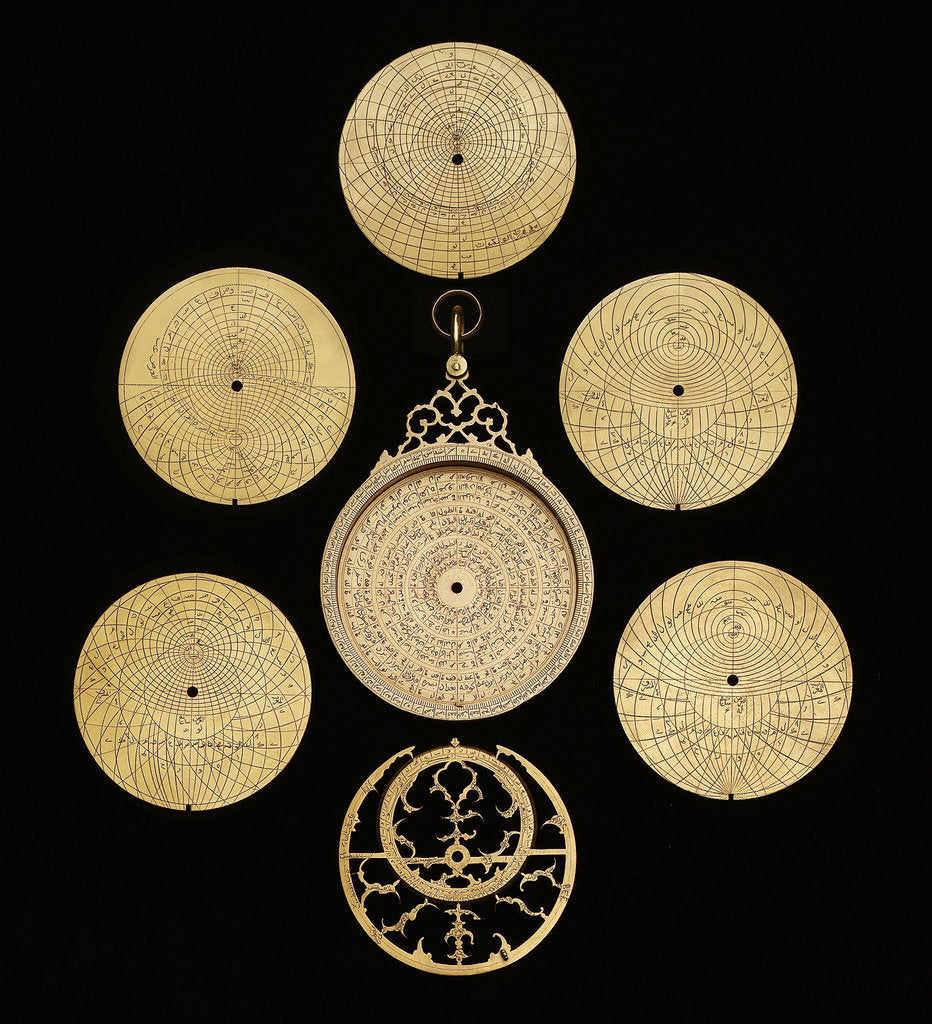 Detail of Astrolabe: dismounted obverse by Muhammad Muqim ibn Mulla 'Isa