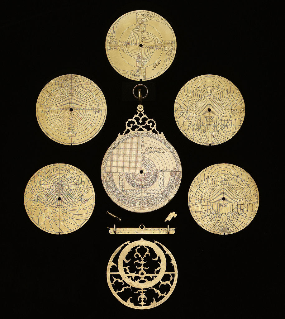 Detail of Astrolabe: dismounted reverse by Muhammad Muqim ibn Mulla 'Isa