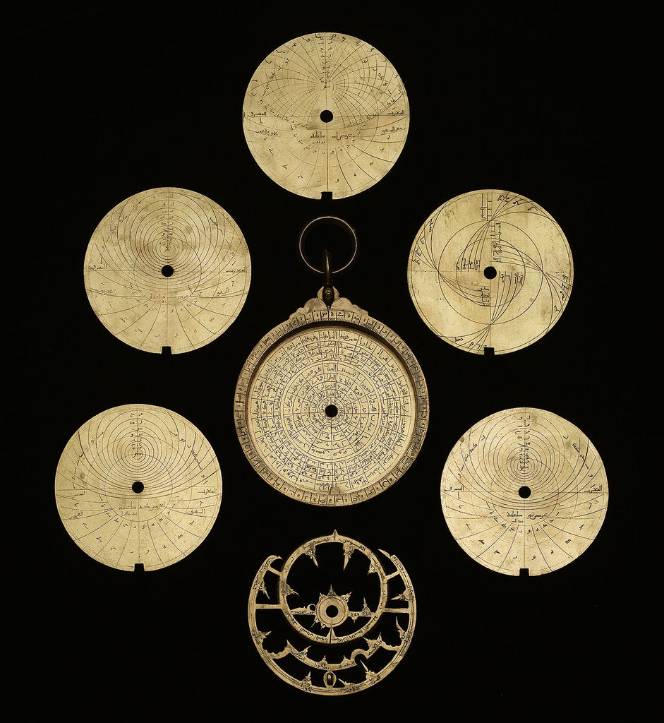 Detail of Astrolabe: dismounted obverse by al-Sarraj