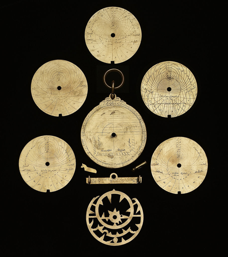 Detail of Astrolabe: dismounted reverse by al-Sarraj