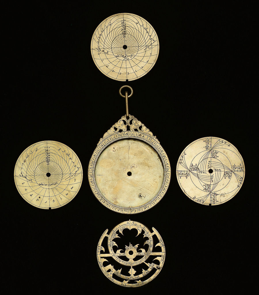 Detail of Astrolabe: dismounted obverse by Mahmud ibn Shawka al-Baghdadi