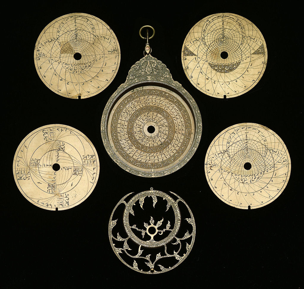 Detail of Astrolabe: dismounted obverse by Hajji 'Ali