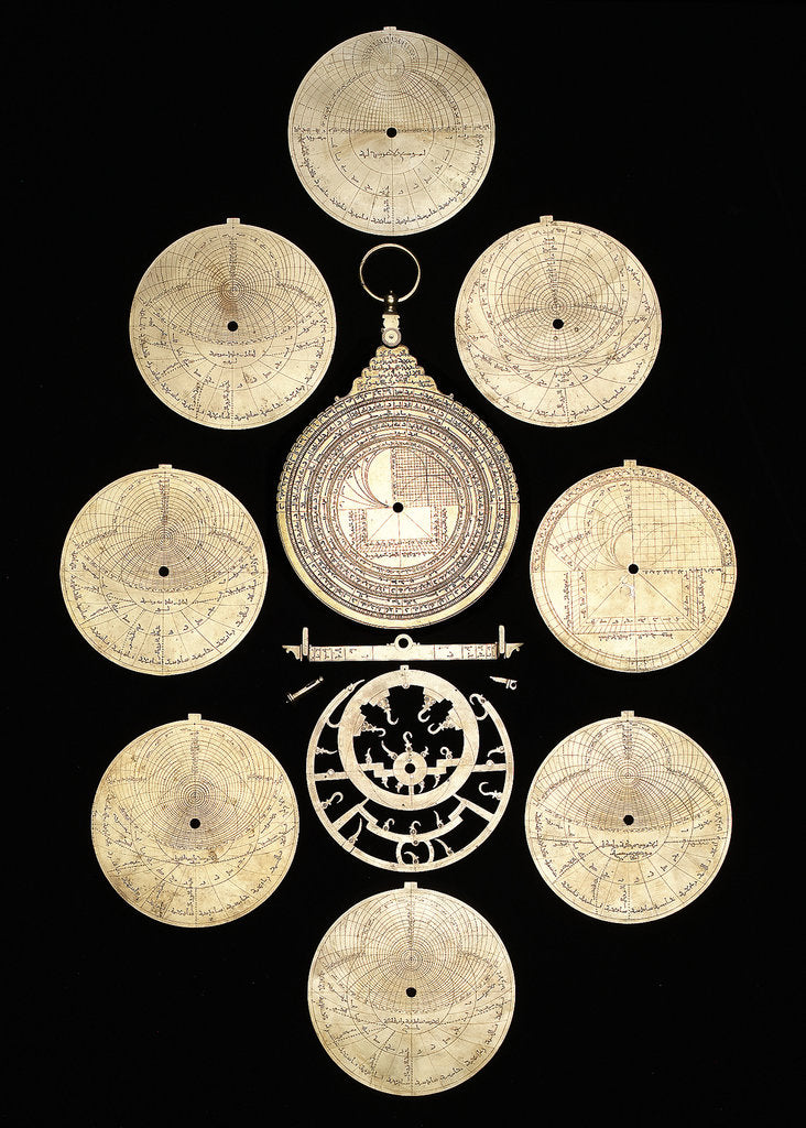 Detail of Astrolabe: dismounted reverse by Muhammad ibn Ahmad al-Battuti