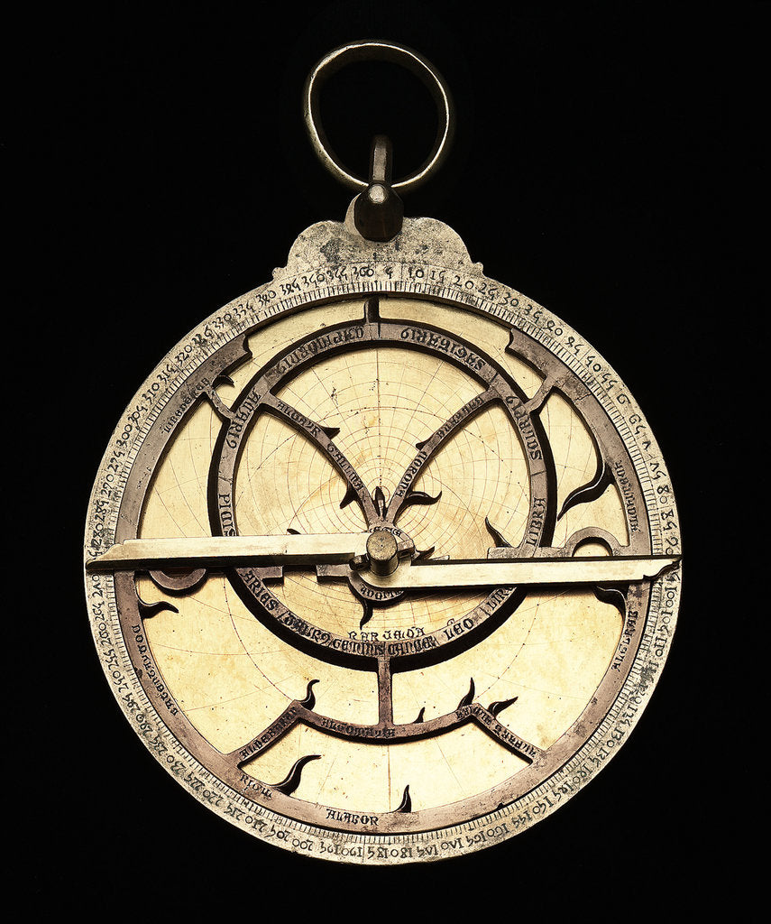 Detail of Astrolabe: mounted obverse by unknown