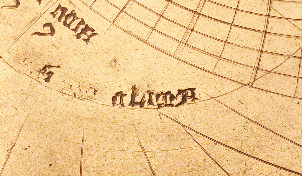 Detail of Astrolabe: detail of plate, 'clima' by unknown