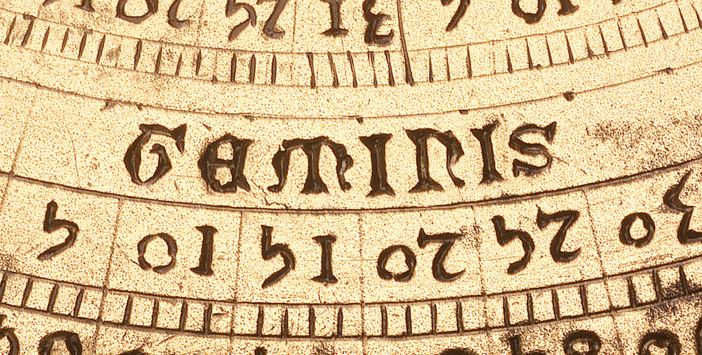 Detail of Astrolabe: detail of mater, 'geminis' by unknown